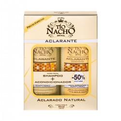 Tio Nacho Pack shampoo+acond aclarante, engrosador y herbolaria $699